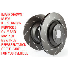 EBC-BMW 3 series (E92) 335i USR Series Fine Slotted Discs (Pair) To Fit Front